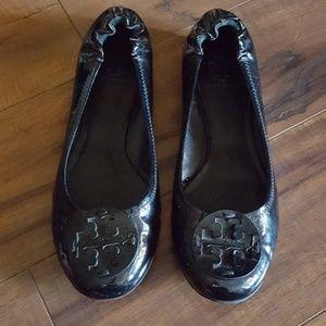 Tory Burch - Black Patent Reva Flats